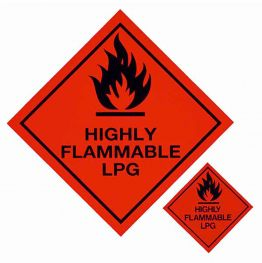 Flammable Gas Sticker (large)