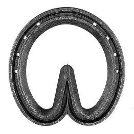 "Concave Steel Heart Bar Shoe 4 1/4"" - 5/8 x 3/8"