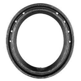 "Concave Steel Egg Bar Shoe 4 3/4"" - 5/8 x 3/8"