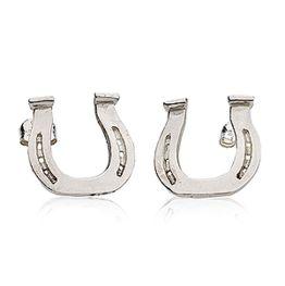 Draught Shoe Earrings in Silver