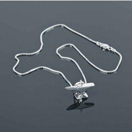 Silver Anvil Necklace