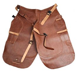 Brown Leather Apron (long)