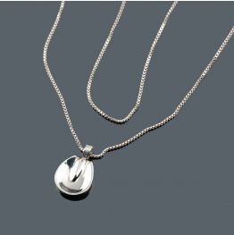 Horse Foot Necklace in Silver