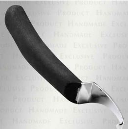Long Curved Knife with Long Rubber Handle - LH